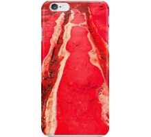 Riverbed in Red iPhone Case/Skin