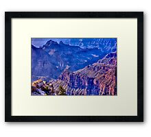 ALittle Green in a Forest of Rock Framed Print