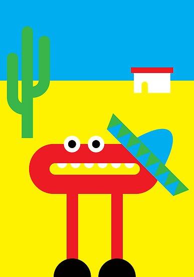 Mister O and his Sombrero do Mexico by Christa de Groot