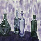 Bottles and Waterfall by Brinaka N.