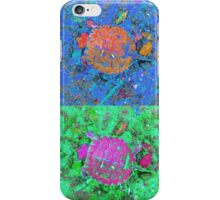 A Sequence of Toddler Turtles – Orange & More iPhone Case/Skin