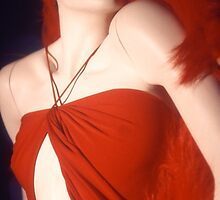 Red Dressed Mannequin by Tamarra