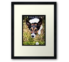Terrier Obsession: It's All About The Ball Framed Print