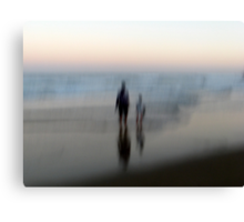 You, Me, the Sea Canvas Print