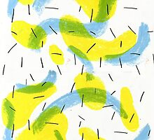Abstract Lemon Pattern by pcillustration