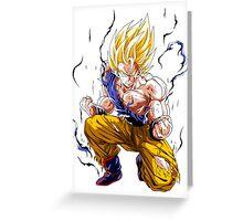 Dbz Sangoku Super Sayan Greeting Card