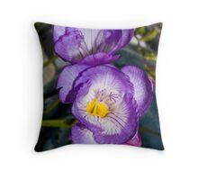 Fresia's in purple Throw Pillow