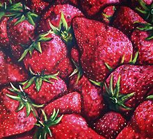 Ripe Juicy Fresh Strawberries by ShanaRoweArt