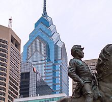 General McClellan and the Philly Skyline by Thad Zajdowicz