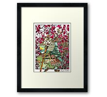 A Halfing Samurai Cat with a Spear and 2 Swords Framed Print