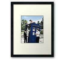 One Direction & The Tardis Framed Print