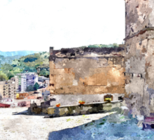 Agropoli: square with tower Sticker