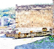 Agropoli: view building by Giuseppe Cocco