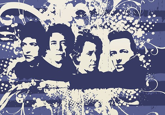 My Mount Rushmore of Rock (Blue) by Doigman