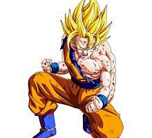 Battle Damaged Goku by Timanator3000