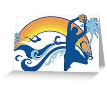 basketball summersetz Greeting Card