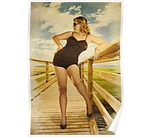 Vintage Beauty Poster