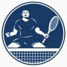 Tennis Player Racquet Fist Pump Icon by patrimonio
