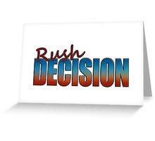 Rush Decision Sunset Chrome Greeting Card