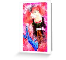 JUNKO ENOSHIMA - Red Ribbon Magazine Greeting Card