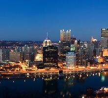 Pittsburgh At Night by Martin  Mozzocchi