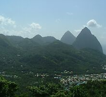 The Pitons by Blondie57