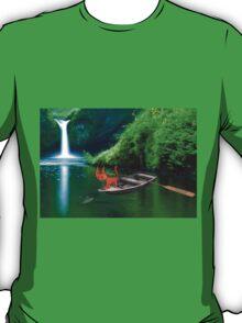 Cat at A Lake Fishing T-Shirt