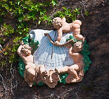 Bacchus Sundial with Cherubs, Viansa Winery, California by MarkEmmerson