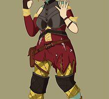 Sera Laughing Alone With Arrow Headband by froyoart