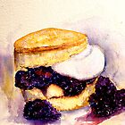 Delicious ..Scone with Berries and Cream by  Janis Zroback