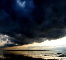Stormy Clouds over Morecambe Bay by blueclover