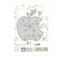 Apple Construction Dimensions Art Print