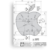 Apple Construction Dimensions Canvas Print