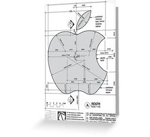 Apple Construction Dimensions Greeting Card