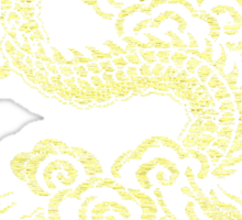 Gold Chinese Dragon Clothing Sticker