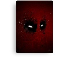 Paint Splatter Villaines : Deadpool Canvas Print