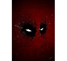 Paint Splatter Villaines : Deadpool Photographic Print