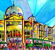 Flinders Street Station, Melbourne Australia by givejoydesigns
