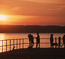 Seneca Lake Silhouette by mklue