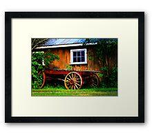 Pioneer Wagon Framed Print