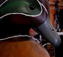 Antique Wooden Mallard Duck by Rebecca Bryson