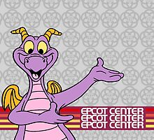 Gray EPCOT Center Figment by Jou Ling Yee