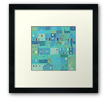 Blue town from the steps Framed Print