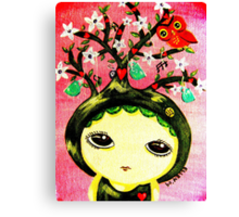 She Grows A Tree Canvas Print