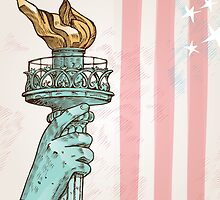 statue of liberty with torch by Doomko