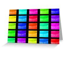 Multi coloured lips Greeting Card