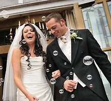 Wedding Bubbles by Mark  Allen