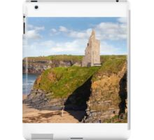 view of the  Ballybunion castle beach and cliffs iPad Case/Skin