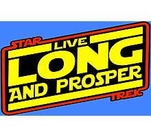 Live Long & Prosper Strikes Back Photographic Print