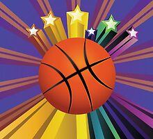 Basketball Ball Background 2 by AnnArtshock